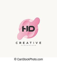 bunte, brief, vektor, abzeichnen, design, schablone, logo, hd, elemente, ikone