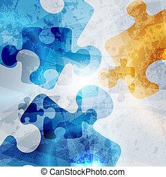bunte, weinlese, abstrakt, hintergrund., form, vektor, design, korporativ, puzzel