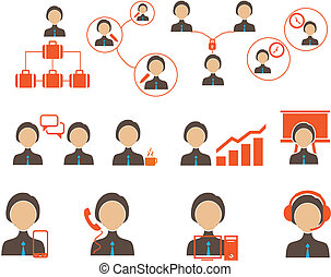 Business and people icon set.