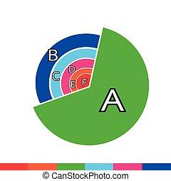 Business Data Graph Icon.