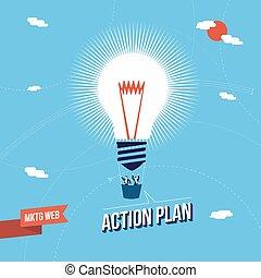 Business Marketing Big Idee Konzept Illustration