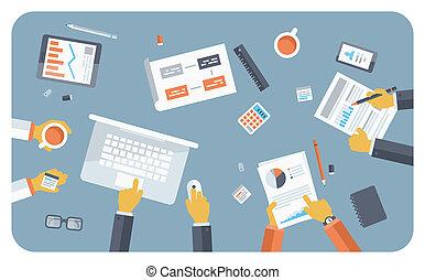 Business Meeting flache Illustration Konzept.