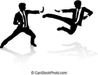 Business-Wettbewerbs-Konzept Menschen kämpfen