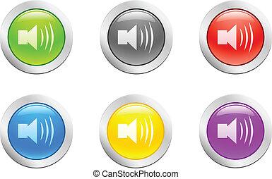 button., [vector], klingen