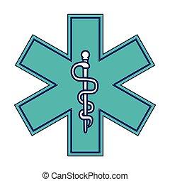 Caduceus medizinisches Symbol.