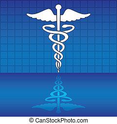Caduceus, medizinisches Symbol für Vektor Illustration.