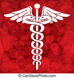 Caduceus, medizinisches Symbol für Vektor Illustration