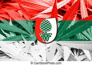 cannabis, fahne, augsburg, hintergrund