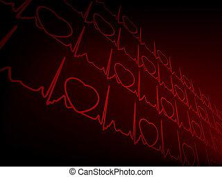 Cardiogramm EKG. EPS 8