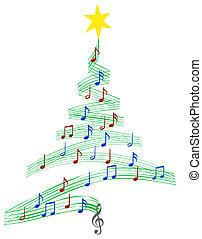 Carol Musik Weihnachtsbaum.