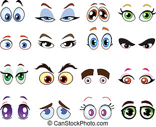 Cartoon-Augen