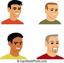 Cartoon-Avatar Portrait Illustration