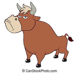 Cartoon Bull.