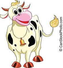 Cartoon gesichtete Kuh