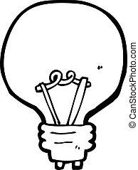 Cartoon Glühbirne.