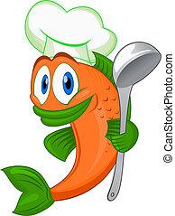 Cartoon-Kochfisch