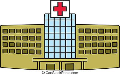 Cartoon Krankenhaus
