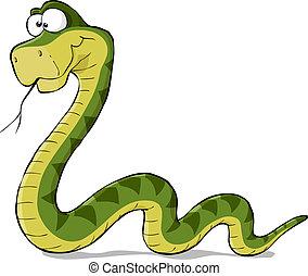 Cartoon-Schlange