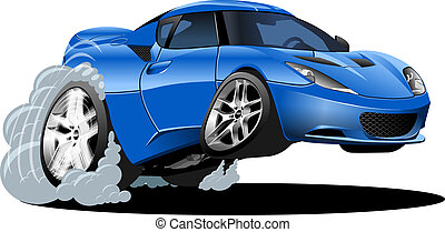 Cartoon Sportwagen