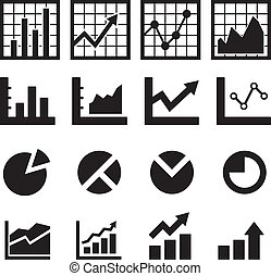 Chart und Diagramm Icon.