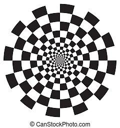 Checkerboard-Spiralemuster