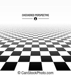 checkered, perspektive, hintergrund