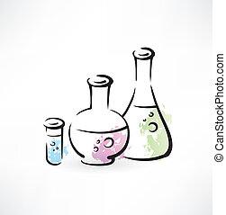 chemie, grunge, ikone
