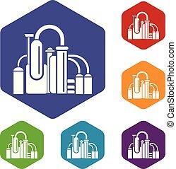 Chemieausrüstungs-Ikone, einfache Art