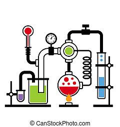 Chemielabor infographisches Set 2