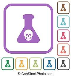 chemische , einfache , gefährlicher , versuch, heiligenbilder