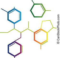 chemische , formel, abstrakt, abbildung
