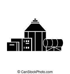 Chemische Hangar-Ikone, einfache Art