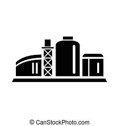 chemische , ikone, pflanze, stil, einfache