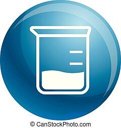 Chemische Joggen-Ikone, einfache Art