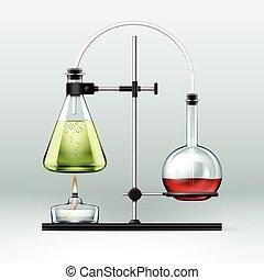 chemische , laboratorium, versuch