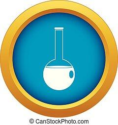 Chemische Schnabel-Ikone blauer Vektor isoliert.