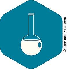 Chemische Schnabel-Ikone, einfacher Stil