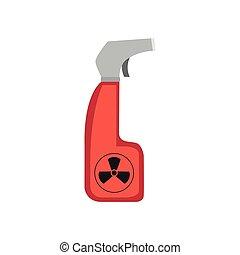 chemischer spray, freigestellt, bild