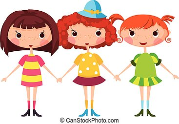 children., karikatur