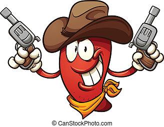 chili, cowboy, pfeffer