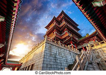 Chinesische antike Architektur.