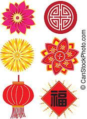 Chinesische Neujahrselemente