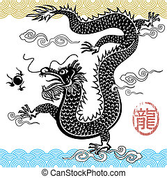 chinesischer drache, traditionelle