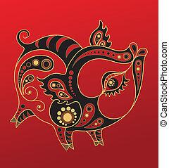 Chinesisches Horoskop. Das Jahr des Schweins