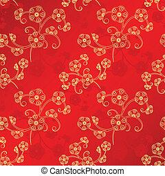 chinesisches , muster, seamless, orientalische , jahr, neu