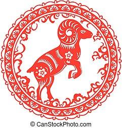 Chinesisches Ziegenjahr.