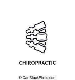 Chiropractic Thin Line Icon, Zeichen, Symbol, Illustration, lineares Konzept, Vektor.