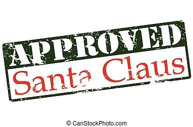 claus, genehmigt, santa