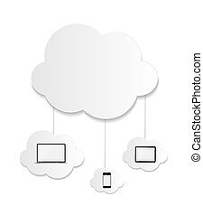 Cloud Computing Business Concept Vektor Illustration.