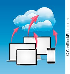 Cloud Computing Business Concept Vektor Illustration